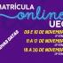 Prorrogadas as datas da 2ª e 3ª etapas da Matrícula online UEG 2020/2