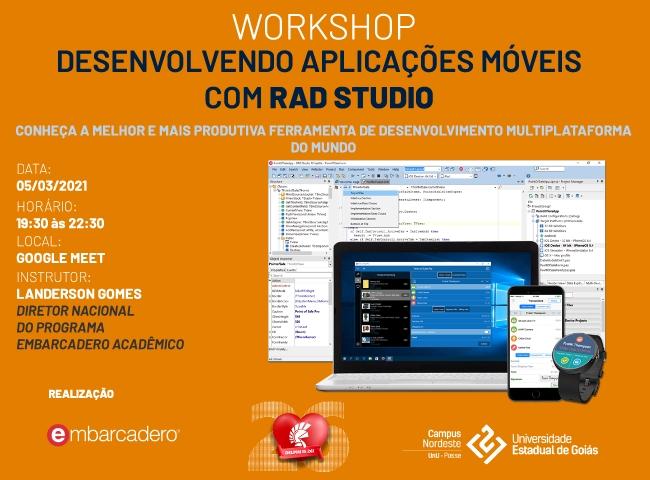 UEG Posse realizará workshop sobre desenvolvimento mobile com RAD Studio